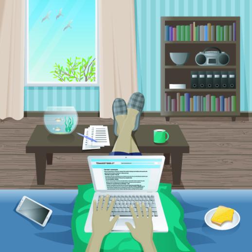 Trabalhar em casa com Produtividade